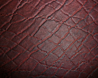 "Leather 6 pack 4""x6"" Maroon / Black Cherry ELEPHANT Embossed Cowhide 2.5-3oz/1-1.2 mm PeggySueAlso™ Limited"