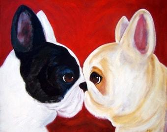"French Bulldog Art Print of an original oil painting / ""Big Attitude"" / 8 x 10 / Dog art"