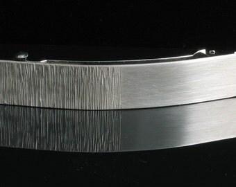 Handmade 80 mm Modern Sterling Silver French Barrette - Handmade Hammered