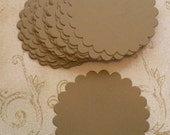 24 Kraft Scallop Circle Die Cut pieces made from Sizzix die cut from cardstock paper Great 4 DIY Wedding Tags