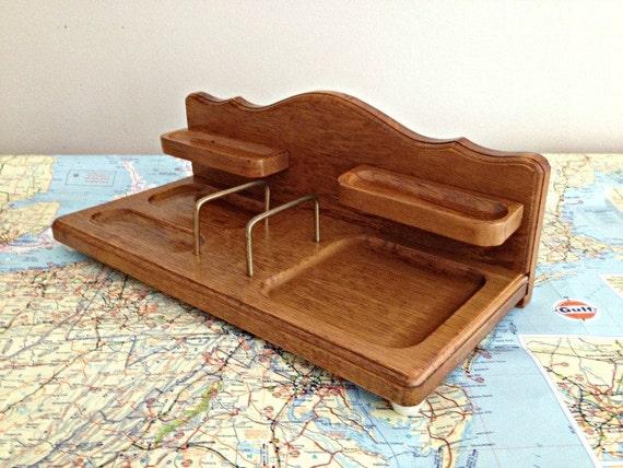 Mid Century Modern Valet Tray Docking Station Desk Organizer