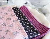 Designer Fabric Baby burp cloths - Flowers & Skulls