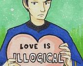 Star Trek Spock Valentine ACEO Mini Art Card