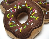 Chocolate Frosted Donut with Sprinkles Organic Catnip Cat Toy