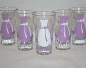 5 Personalized Bridesmaid and Groomsmen Shot Glasses
