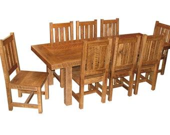 Aged Oak Table Set