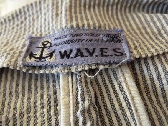 GENUINE 1940s WW2 Navy W.A.V.E.S authentic uniform suit jacket