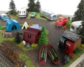 The Ultimate Camping Getaway - HO scale diorama