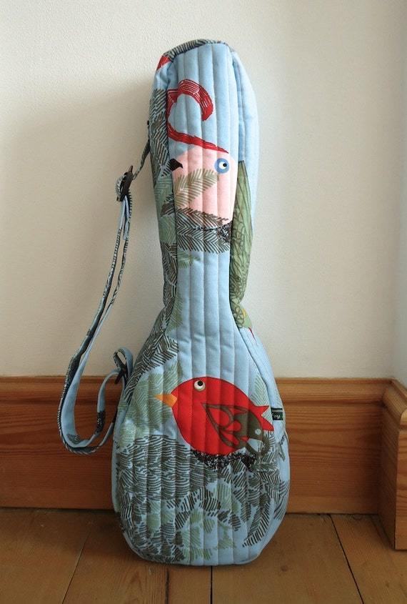 Ukulele Soft Blue Ukulele Gig Bag Soft