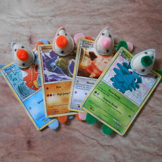SALE: Pokemon Card Plushies - Set of 4 (Party Favors)