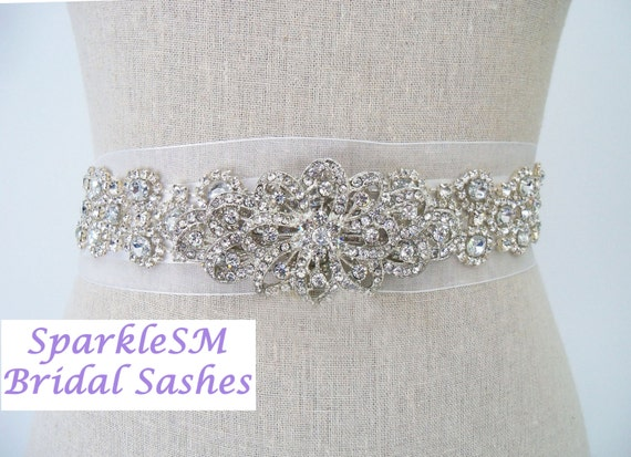 Bridal Sash, Wedding Sash, Bridal Belt, Crystal Sash, Rhinestone Sash, Jeweled Belt, Bridal Belt, Wedding Belt, Elegant Bridal Sash, Leona