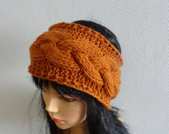 Handmade Knit Cable Headband Plait  Knitted Headband Hand knit headband, head wrap, ear warmer  accessories handmade