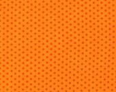 Spot On Orange on Orange Mini Dots From Robert Kaufman