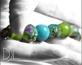 Artisan made glass bead..'set in blue'  lampwork bead sra