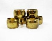 vintage serving, vintage brass napkin holders, vintage brass