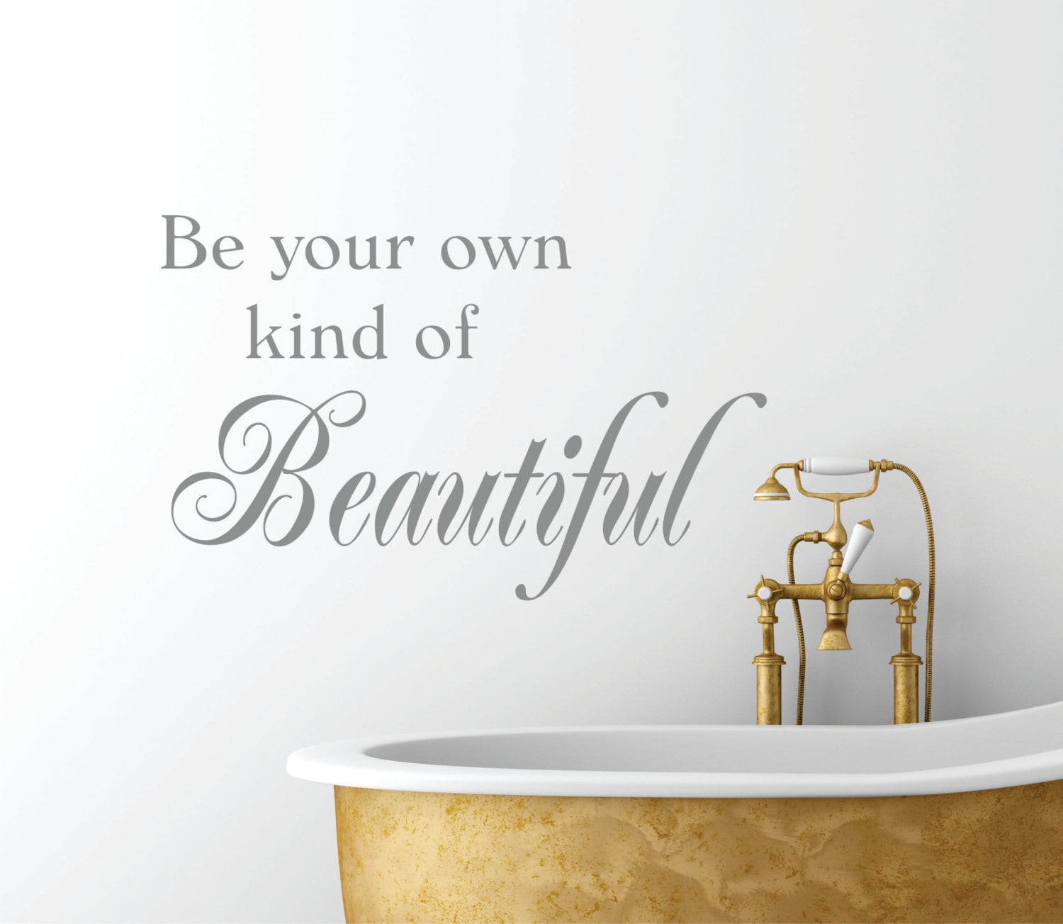 Be your own kind of beautiful vinyl wall decal bathroom for Bathroom decor etsy