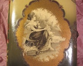 Victorian Celluloid and Velvet Photo Albums with Cabinet Card Photos BEST OFFERS CONSIDERED