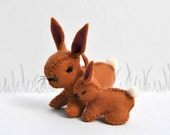 Easter Toffy Woolfelt Little Bunny and Mother