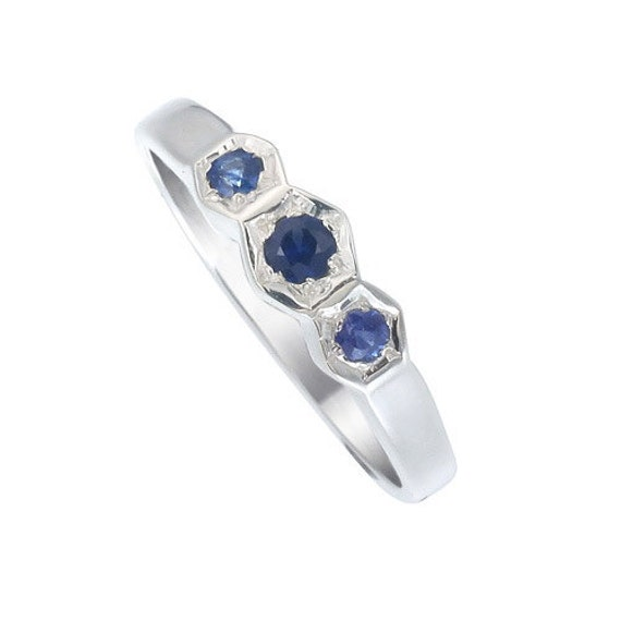 blue sapphire gemstone ring 925 sterling silver by