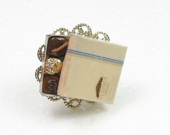 Box of Chocolates Ring. Polymer Clay.