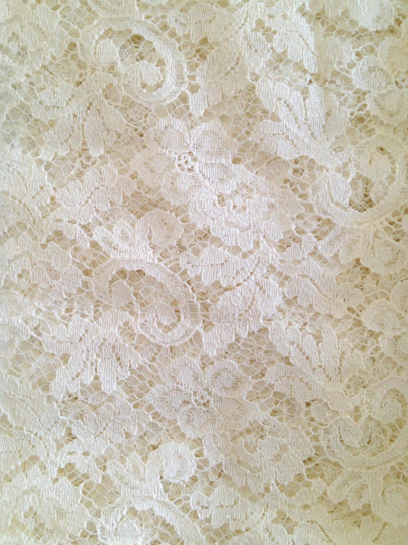 Vintage Cream Lace Fabric Remnant Lace Lot Of 2 Ecru Rdtt
