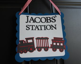 Train Door Sign, Train Party, Train Party Supplies, Choo Choo, All Aboard, Happy Birthday, Chugga Chugga Two Two