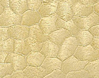 "Textured Brass Sheet 6"" X 2.5"" (Br11) Large Bracelet Size Texture Metal Use With Your Rolling Mill - 24 Gauge - Jewelry Metal Emboss Metal"