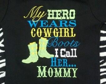 My hero wears cowgirl boots