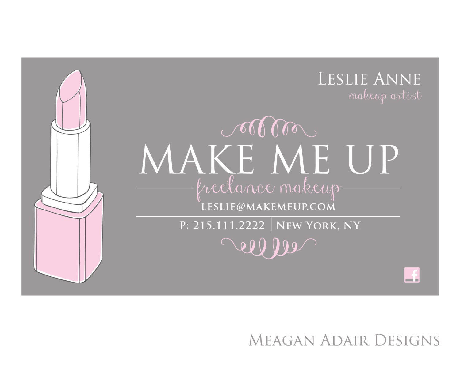 Makeup Artist Business Cards Templates Business Card Sample - Makeup artist business card template