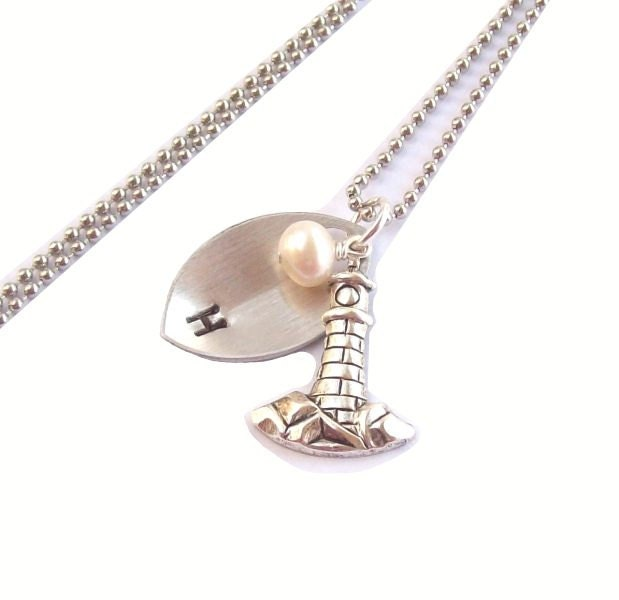lighthouse necklace silver tropical necklace personalized
