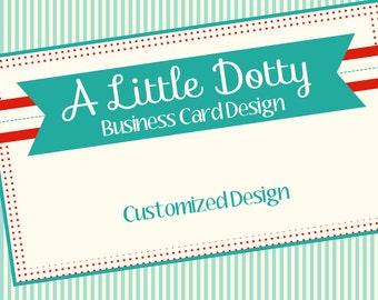 """Business Card Design Cute Polka Dot Design """"A Little Dotty"""""""