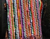 stripes in every color...vintage crocheted afghan