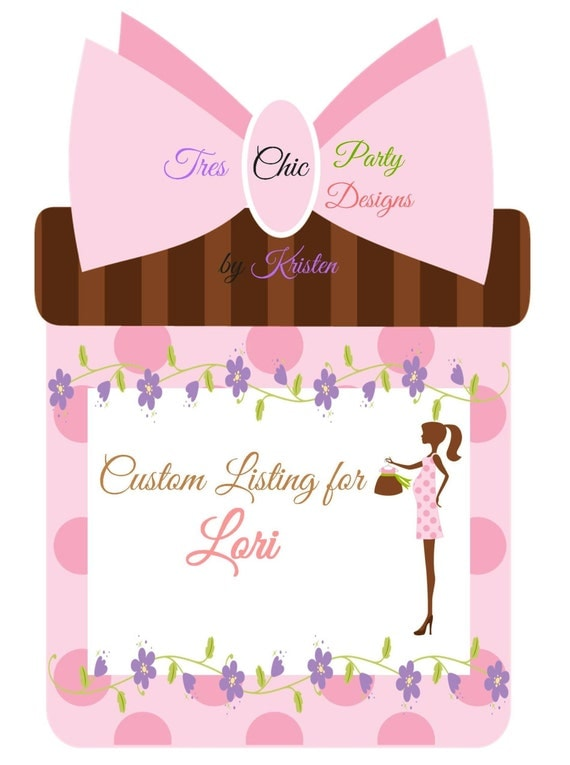 CUSTOM LISTING for Lori