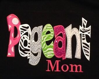 Fun Sparkle dot Pageant Mom Shirt