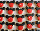 Boy Mouse MIckey cookie mini two bite size cookies (#2315)
