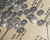 30% off while supplies last!  Item 007 - 3/8 inch (9mm) plastic buttons - 6 per package - Available in Antique Silver or Antique Gold