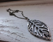Rustic Leaf Necklace