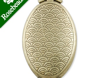 20 pcs 33x20 mm Antique Brass Oval double Lockets Pendant Victorian Style,antique Locket,engraving lockets -C1159
