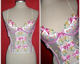etsy454  Ooak  vintage corset...romantic,burlesque style