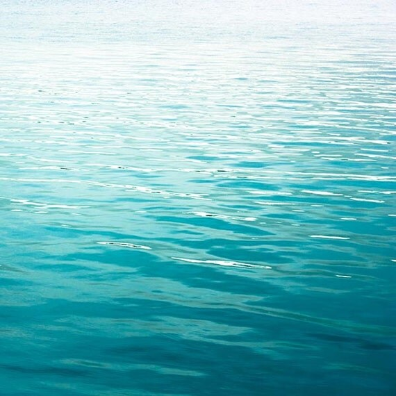 Ocean photography Abstract beach art teal water print 8x10 8x12 teal blue nautical decor beach photography waves coastal print ripples