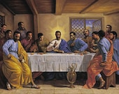 "Beautiful African American ""The Last Supper"" Art Print Poster 24""x36"""