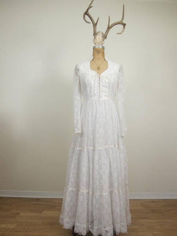1970s gunne sax wedding dress by bettycrafter on etsy