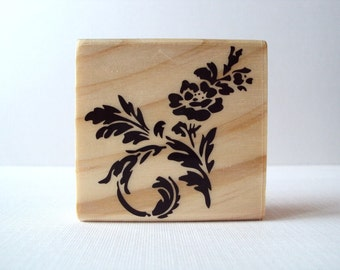 Flower Spray Wooden Mounted Rubber Stamping Block DIY cards, scrapbooking, tags, Greeting Cards, and Scrapbooking