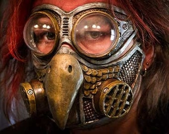 Steampunk Diesel Punk Froggle Owl gas mask and froggle combo set cosplay fetish Egyptian sexy halloween Larp ON SALE NOW!!! 25% off!!