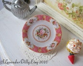 Dollhouse Plate Royal Albert Lady Carlyle Coral