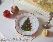 Holiday Cheer Tree Plate for Dollhouse