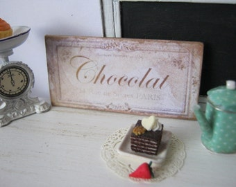 Chocolat Sign for Dollhouse