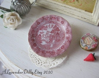Pink Willow Dollhouse Plate