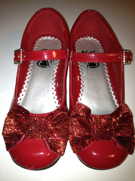 Ruby Red Shoes Girls Size 13 Huge Ruby By Theflyingbluemonkey
