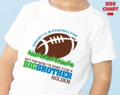 Football Big Brother Shirt or Bodysuit - I'm Going To Be A Big Brother Shirt - Pregnancy Announcement Shirt - Football Baby Shower Shirt